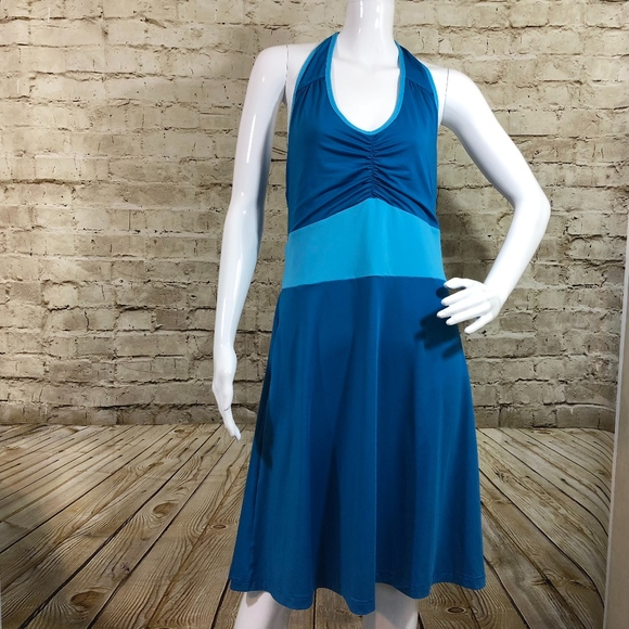 daceac56b3b Exofficio Dresses   Skirts - Exofficio Sol Cool Halter Dress Pockets Blue
